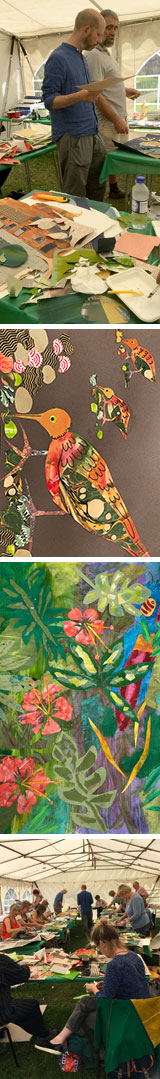 Collages done on Mark Hearld's Workshop at The Studio @ Burlingham Hall in June 2016